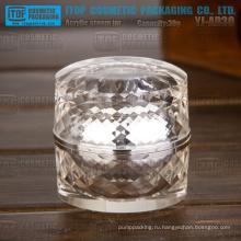 YJ-AD30 30g высокая ясно и глянцевый Серебряный толщиной двойных слоев раунд Опарник Акриловые diamond 1oz