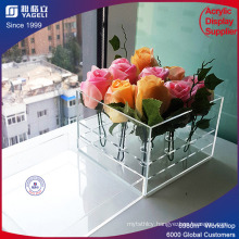 High Quality Acrylic Round Flower Box for Sale