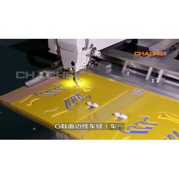 Máquina de coser industrial con pespunte automático