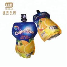 A selagem forte levanta-se sacos feitos sob encomenda do suco de fruto da folha de alumínio do pacote personalizado do refresco com bico