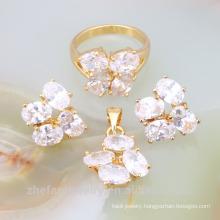 wholesale alibaba fashion jewelry 2018 rhodium plating jewelry set cubic zircon jewelry