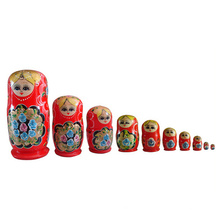 traditionelle Matroschka-Puppen, Matroschka-Spielzeug, handgemachte Matroschka