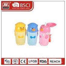 garrafa de plástico de crianças, garrafa de água, garrafa de crianças com palha, 0,4 L L 0,55