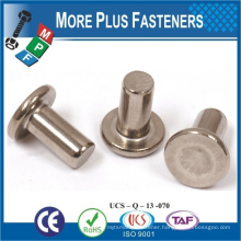 Made in Taiwan High Quality Rivet Copper Rivet Flat Head Rivet