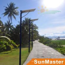 50W LED 50wsolar painel integrado Solar rua luz tudo-em-um solar LED rua lâmpada