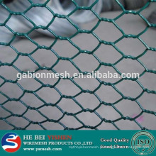 Armadura de fio de galinha revestida com pvc decorativo hexagonal decorativo