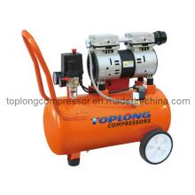 Motor sin aceite de la bomba compresora industrial silenciosa sin aceite (Hw-1024)
