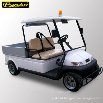 CE 4 seat electric patrol golf cart with cargo box