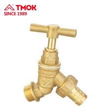 Valve body is brass color size y-shaped body easier to use for water flow and water nozzle
