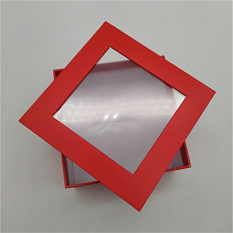 Two Piece Box With Clear Window