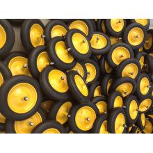 En hévéa massif roues 350-8, solide, avec des jantes métalliques