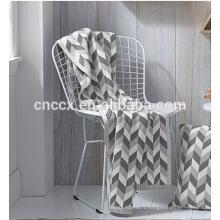 PK17ST379 textile à la maison jacquard trois couleurs motifs de diamant coton couvertures de cachemire