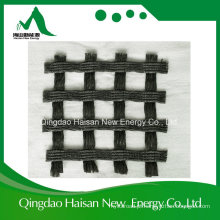 400kn / M High Intensity Warp Knitting Polyester / Pet Geogrid