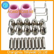AG-60 SG55 Luft-Plasma-Schneidbrenner Ersatzteile Komponenten-Kit 24er Pack
