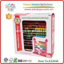 Heißer Verkauf pädagogische Spielwaren rosafarbener Schloßabakus, der Spielwaren zählt