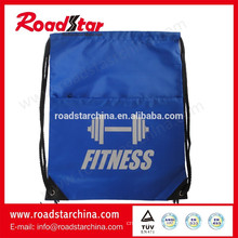 Foldable 100% polyester reflective cinch bag for safety