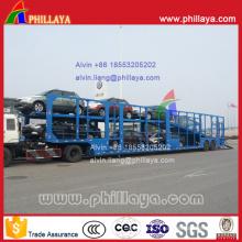 8 voitures transporteur voiture à 2 essieux portant semi remorque de camion