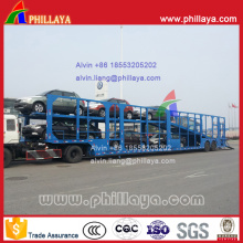 8 Cars Carrier 2-Axled Car Carrying Semi Truck Trailer