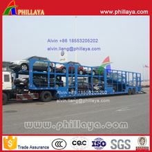 8 Carros Carrier 2-Axled Car Carrying Semi Truck Trailer