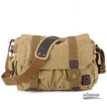 Vintage Printing Logo Cotton Canvas Messenger Bag For Men , One Shoulder Bags