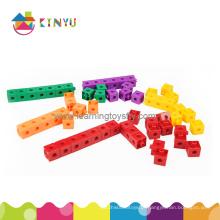 Materiais de sala de aula de matemática Blocos de construção de plástico (K002)
