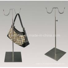 High Class Double Hooks Support de sac Porte-affiche en métal