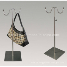 High Class Double Hooks Bag Holder Metal Display Rack