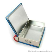 Book-shaped DVD tin box