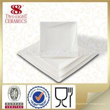 Chaozhou eco ware carré dîner vaisselle porcelaine assiette plats chinois