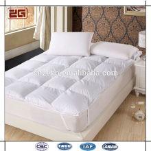 Tapa de colchón de relleno de microfibra natural de alta calidad lavada del hotel