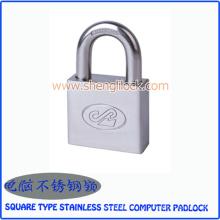 Top segurança tipo quadrado cadeado de computador de aço inoxidável