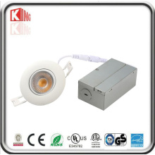 Energy Star Angle ajustable empotrable LED Mini Downlight con caja de conexiones