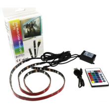 USB TV Luz de fondo RGB LED tira IR Control