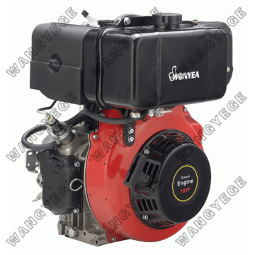 Recoil-Electric Starter Diesel Engine with 4-Stroke Single Cylinder and 11HP Power