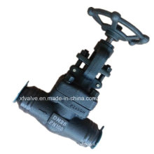 Soupape à haute pression forcée de soudure de l'acier au carbone DIN A105 de DIN