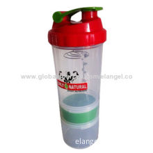 Spider bottle, a protein shaker to mix nutritional supplements easily at home or during travel