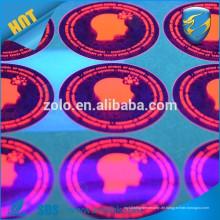 Hochwertiges, starkes, haftendes PET-Plastikaufkleber-Etikett mit unsichtbarer UV-Tinte