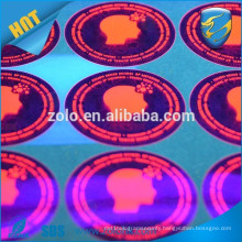 high quality strong adhesive PET plastic sticker label with invisible uv ink