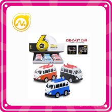1: 36 Cartoon avec Light and Sound Die Cast Model Bus Car Toy