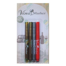 Wine Glass Marker Pen with Non Toxic and Eraseable