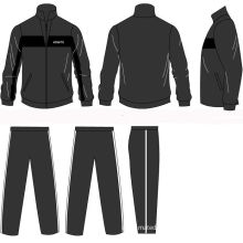 Black Half Jacket Zip Autumn Winter Sports Track Suit With Customized Embroidery Logos