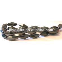 Perlas sueltas naturales de la alta calidad 8 * 12MM hematites para la fabricación de la joyería