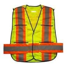 Neon Mesh Velcro Tasche hohe Sichtbarkeit reflektierende Sicherheitsweste (YKY2851)