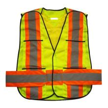 Neon Mesh Velcro Pocket High Visibility Reflective Safety Vest (YKY2851)