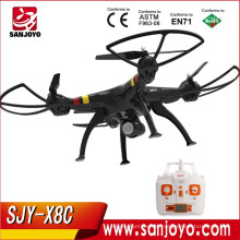 RC Quadcopter con cámara 2.4G 4CH Syma X8C VS X5C LED luz profesional Control remoto Drone SJY- SM-X8C