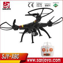 RC Quadcopter Com Câmera 2.4G 4CH Syma X8C VS X5C LEVOU Luz de Controle Remoto Profissional Drone SJY-SM-X8C