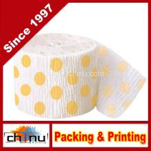 Amarillo Polka DOT Crepe Paper Streamer (420050)