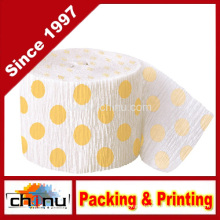 Yellow Polka DOT Crepe Paper Streamer (420050)