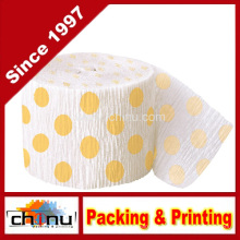 Amarelo Polka DOT Crepe Paper Streamer (420050)