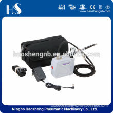 China portable sileng with bag auto stop start mini airbrush compressor